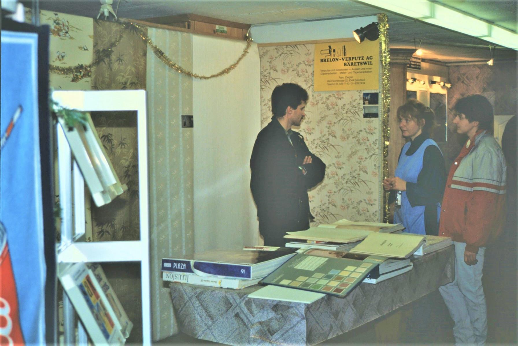 Gewerbeausstellung Brelon Verputz