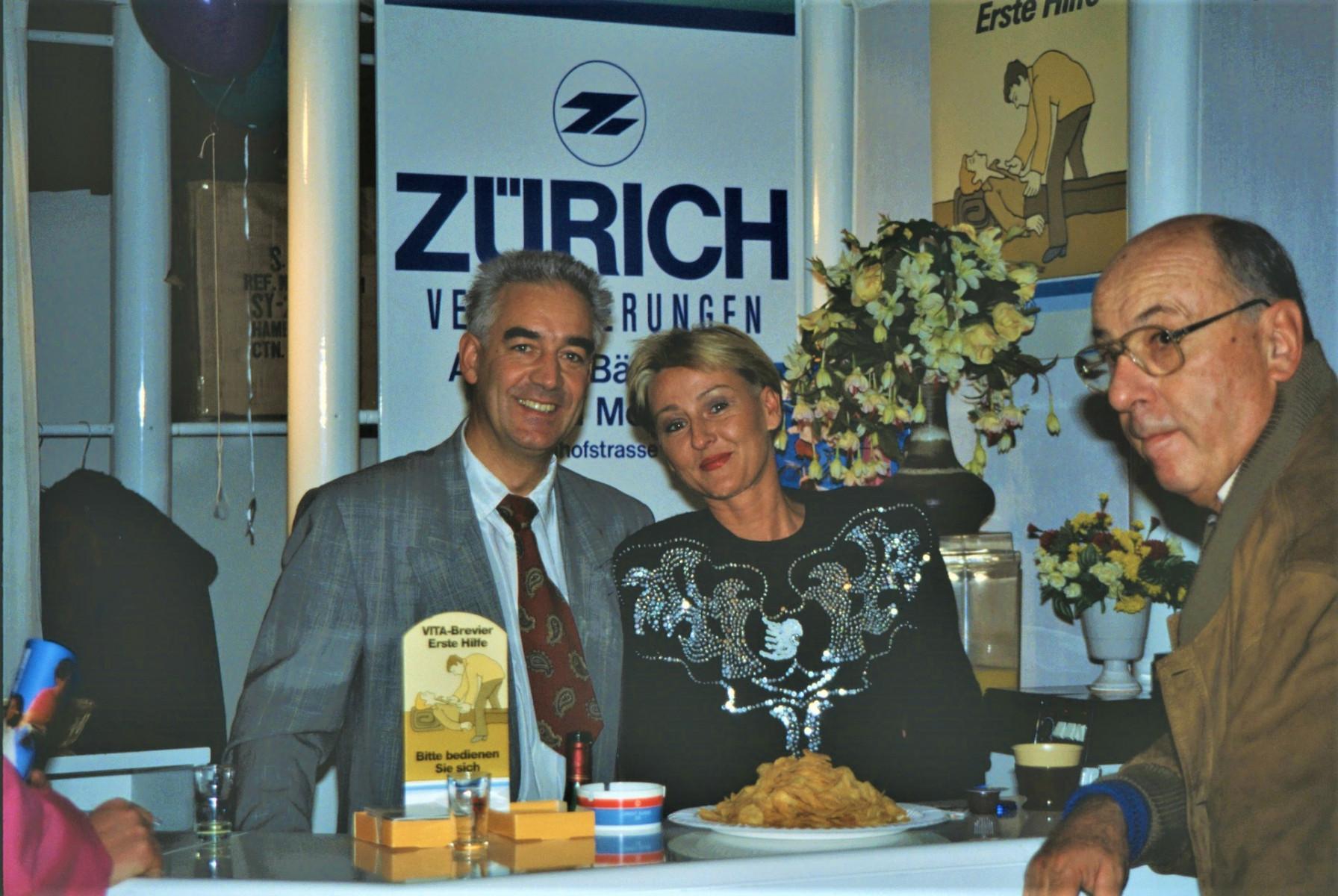 Gewerbeausstellung Zürich-Versicherung, Fredi Moser + Frau