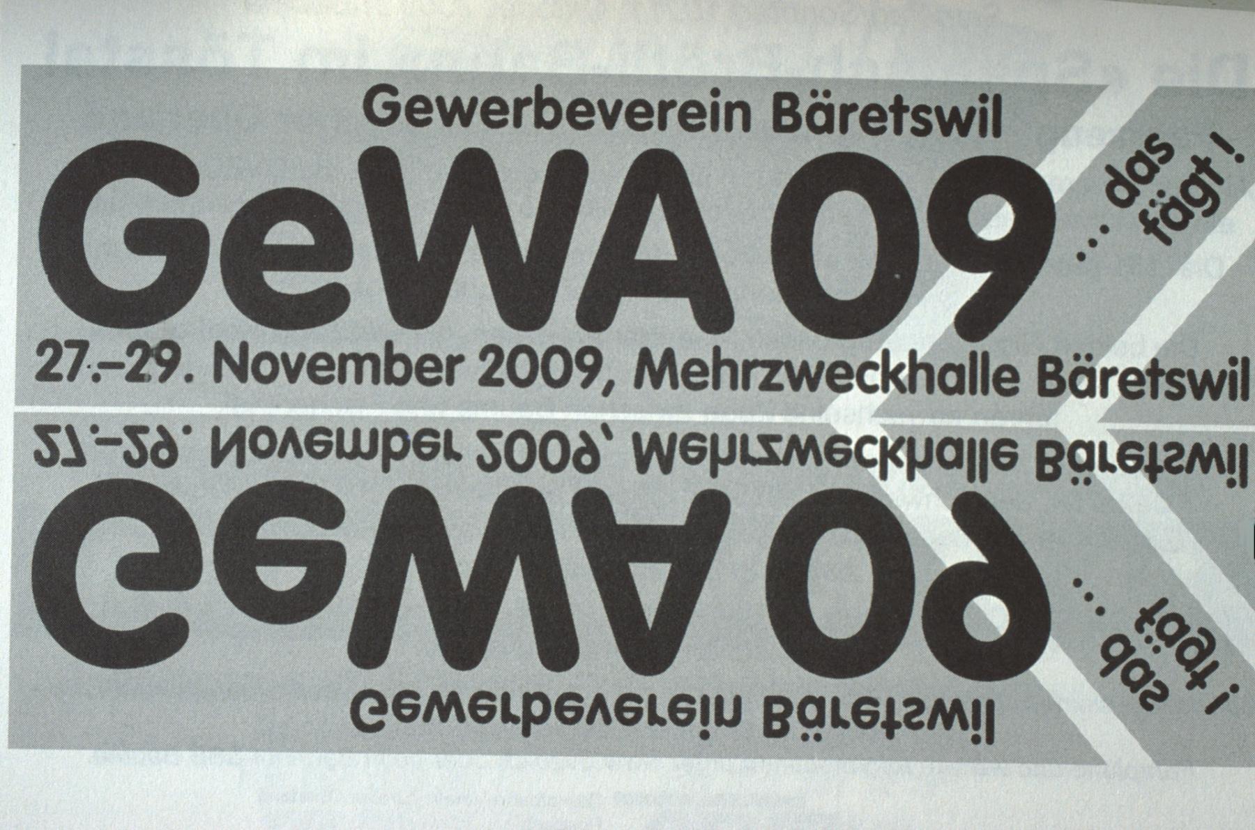 Flyer für die GeWA 09, Gewerbeausstellung 27.-29.Nov.2009