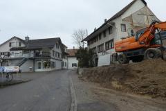 Abbruch der Käserei Adetswil, lk Restaurant Freieck