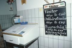 Käserei Klein Bäretswil, Produktetafel - Milchbüchlein der Lieferanten (7 Bauern)