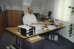 GdeSchreiber Felix Wanner in seinem Büro