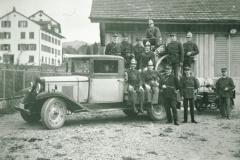 Feuerwehr mit Auto, Jakob Heusser, Reinhold Walder