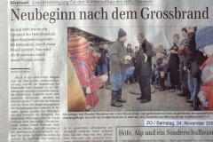 ZO - Nach Grossbrand Neubeginn