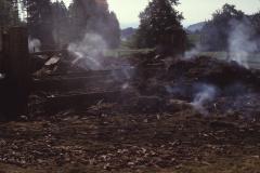Brandreste der Scheune im Obis (Juli 1986)