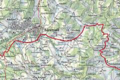 Fahrtstrecke der Tour de Suisse durch Bäretswil