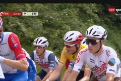 TdS-2021. Im gelben Trikot Stefan Küng, der Sieger des Zeitfahrens von Frauenfeld.