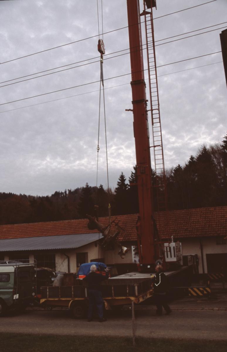 Turbine 2 wird auf das Auto abgesenkt