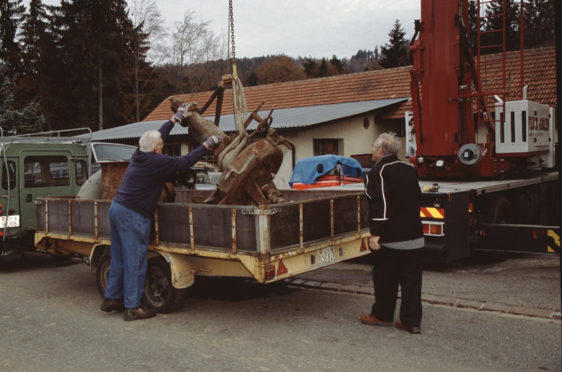 Turbine 2 wird verladen, B.Meier, F.Casserini
