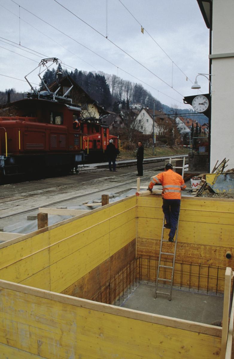 Dampfbahn Verein, Baugrube für Stellwerk