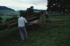 Allenberg, Holz aufladen Hans Koller