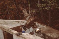 Turbine 2 wird gehoben