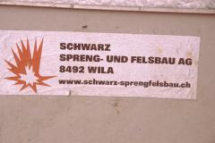 Sprengung Kamin Hico, Vorberreitung Firma Schwarz