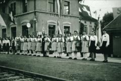 Bahneinweihung 1947, Bahnhof Bäretswil