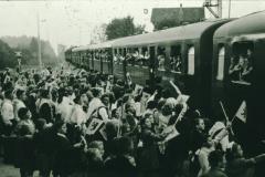 Bahneinweihung 1947, Einfahrt des Zuges