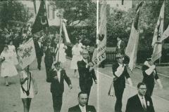 Bahneinweihung 1947, Fahnendelegation Vereine