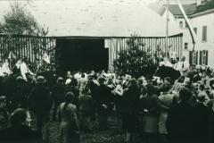 Bahneinweihung 1947, Festhütte auf der Schulwiese