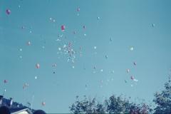 Bahnfest 1947, Schulhausplatz, die Ballone steigen