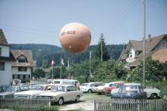Oberlandfest, Ballonstart auf der Schulwiese, 3.-5.Juli 1971