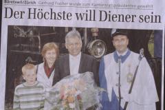 Kantonsratspräsident Gerhard Fischer