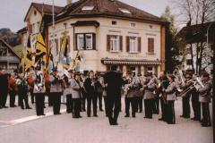 Wahl Gerhard Fischer zum Kantonsratspräsident, Empfang am Bahnhof durch die Musik