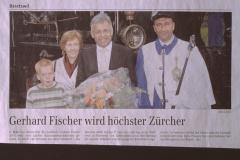 Wahl Gerhard Fischer zum Kantonsratspräsident