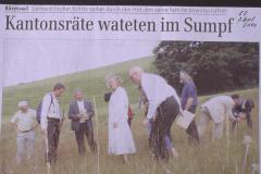 Kantonsratsräte wateten im Sumpf