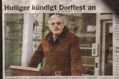 Hulliger kündigt Dorffest an, regio