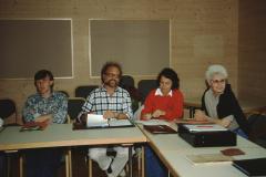 Seminar Oberstufe Wildhaus, 2. Tag Nachmittag Bruno, Theo, Anita, Esther