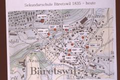 Sekundarschule Bäretswil, 1835 - heute, Karte