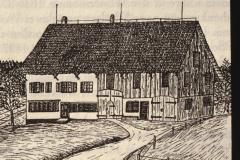 ,Lettenhaus' an der Adetswilerstr, beherbergte die Sek.Schule 1836-1837