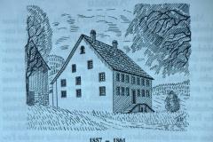 Haus an der Adetswilerstr, beherbergte 1857-1861 die Sek.Schule