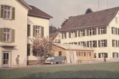 Bau der Schulbaracke für die Realschule, benützt bis 1975 durch Jörg Albrecht