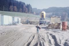 Schulhaus Letten, Baugrube