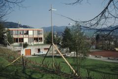 Schulhaus Im Letten, Baugespann für die Turnhalle