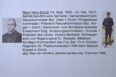 Major Bünzli, 19.9.1853 - 22.2.1927