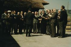 Männerchor bei Walter Stössel, Waswies, Dirigent Otto Schaufelberger