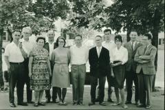 Lehrer im Dorf, D. von Planta, Hans Altwegg, E.Hulftegger, E. Seiterle, Susi + Jörg Albrecht, Heinz Oswald, nn, W. Schenkel, Heini Dübendorfer, 2x Wenger, Frl. Wieland