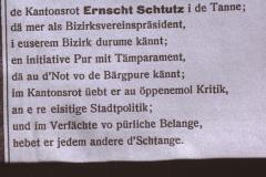 Inserat für Ernst Stutz, Tanne (Eidg. Wahlen)