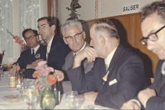 Schulhaus Adetswil Einweihung, Bankett, Hugo Grimmer, G. Keller, Hollenweger (Visitator), Ernst Stutz GdePräsi