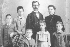 Kutscherfamilie Tress-Légéret Familie mit Amalie, später Schaufelberger