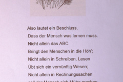 Schule. Lehrer Lämpel aus Max & Moritz