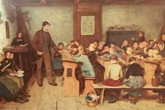 Die Dorfschule. Gemälde von Albert Anker (1831-1910)