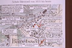 Karte Primarschulen Dorf 1615-heute