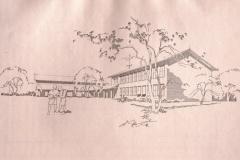 Projektskizze Schulhaus Dorf