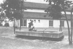 Der schöne Schulhausbrunnen in Bäretswil