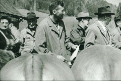 Frau Amacher, Ernst Graf, Herr Rieser, Viehprämierung