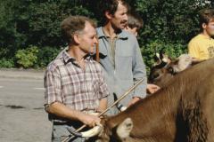 Viehprämierung, vorn Kaspar Schoch, hinten Ueli Hauser