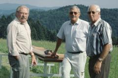 Jakobsberg vlnr Bert Hubmann, H.P.Hulliger, Hans Koller