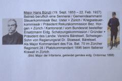 Major Bünzli, 19.9.1853 - 22.2.1927, 1.Präsident VVB, seine Tätigkeiten